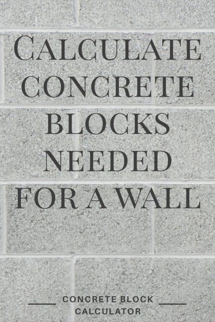 Share concrete block calculator