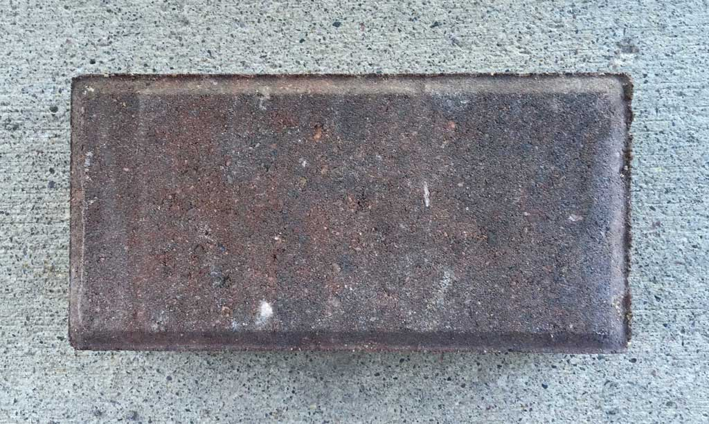 """The 4"""" x 8"""" Holland style paver is a common size and style"""