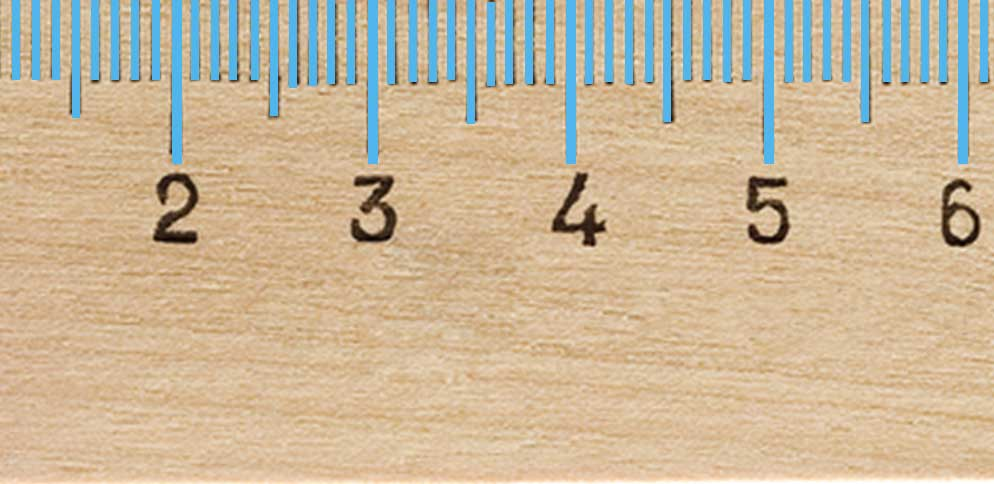 The smallest markings on a metric ruler are for millimeters