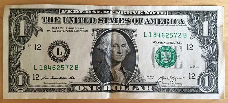 Get a crisp dollar bill