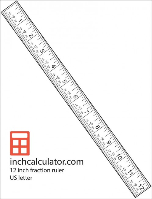"Use the 12"" ruler with fraction markings for accurate measurments"