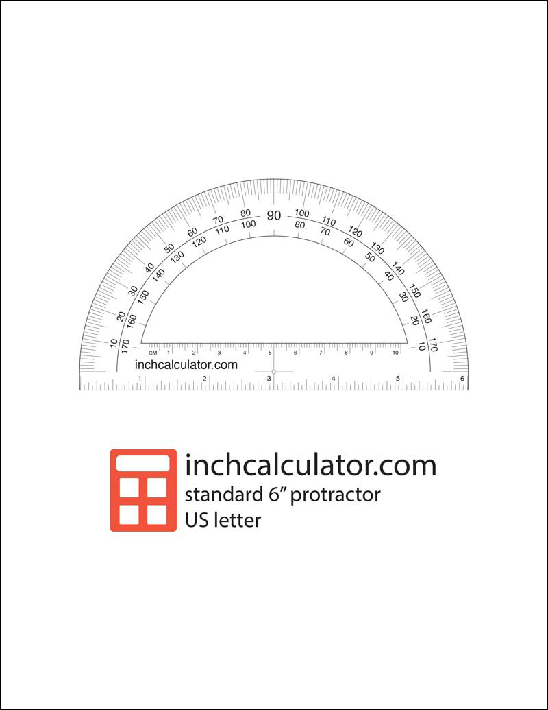 Download a free printable protractor to quickly measure an angle when you don't have one handy