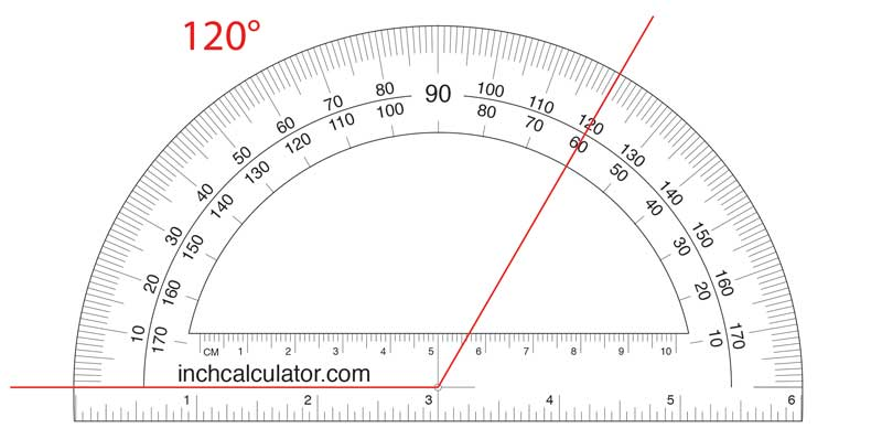 Find an obtuse angle measurement using a protractor