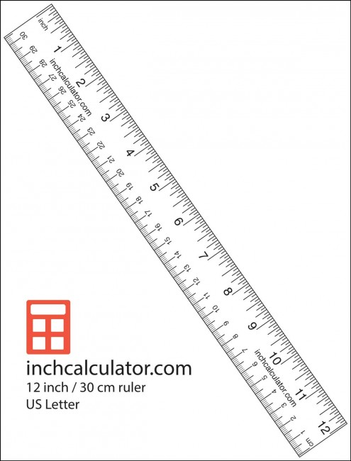 Print a paper ruler to take measurements when you don't have a tape measure or ruler