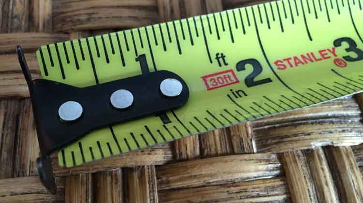 the hook on a tape measure slides to account for the thickness of the hook for equally accurate measurements when hooking on to a surface or butting the end up to a surface.