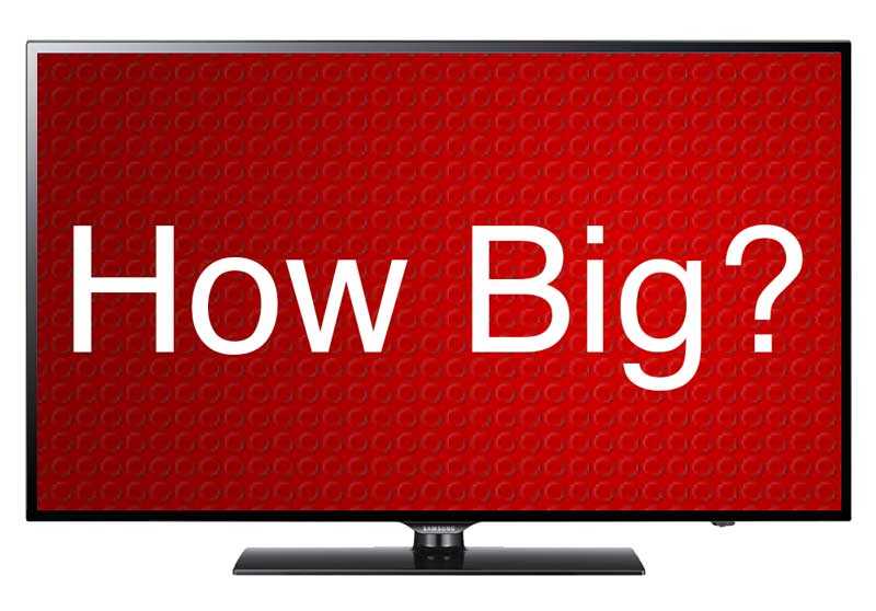 Choose the right sized TV based on viewing distance for an immersive viewing experience