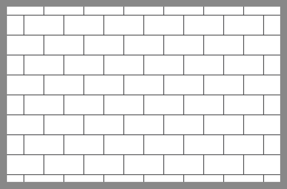 Tile layout using the running bond pattern