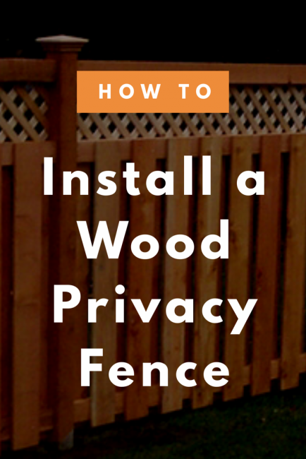 Share how to install a wood privacy fence (6 easy steps)