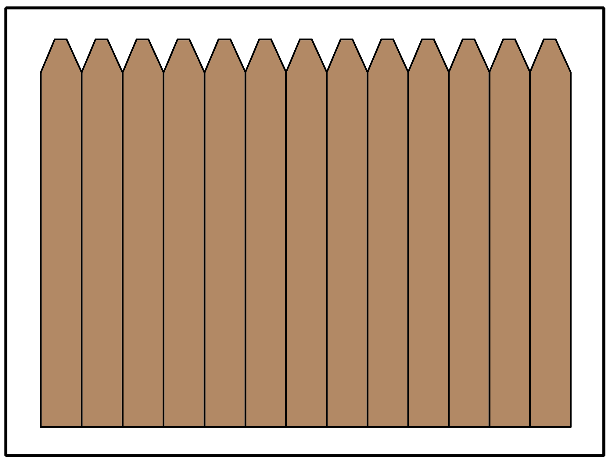 Privacy fence using an angled picket