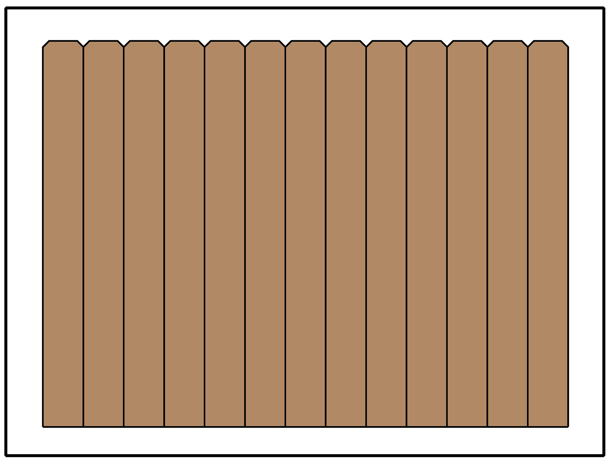 Privacy fence using a dog ear picket