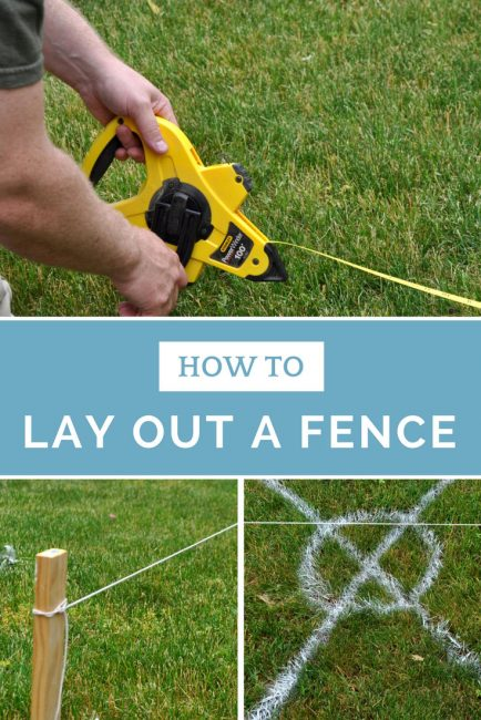 Learn how to lay out a fence, get perfectly square corners, and evenly spaced fence posts and panels.