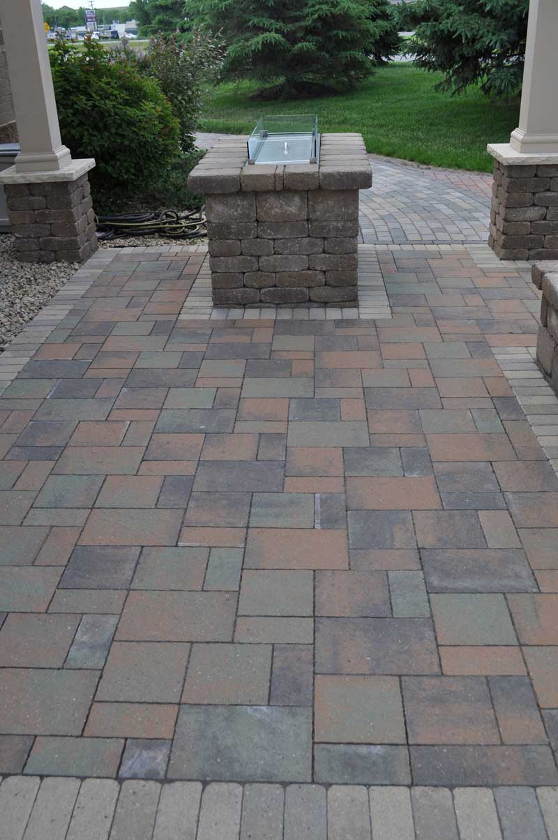 Patio recently installed by a local paver installer