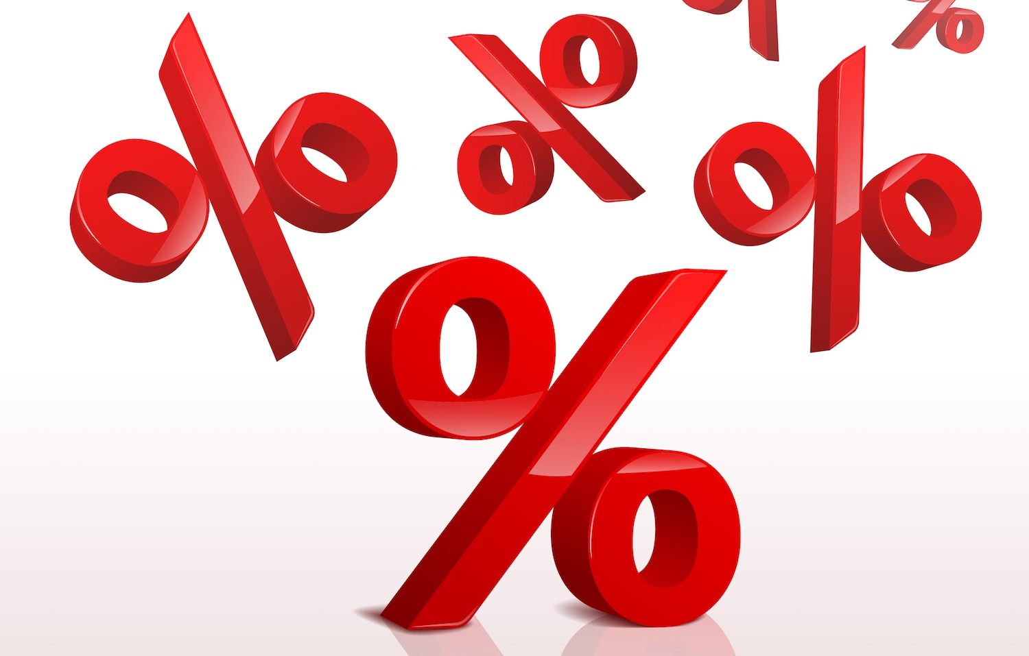 icon of many % symbols representing compounding percentages.