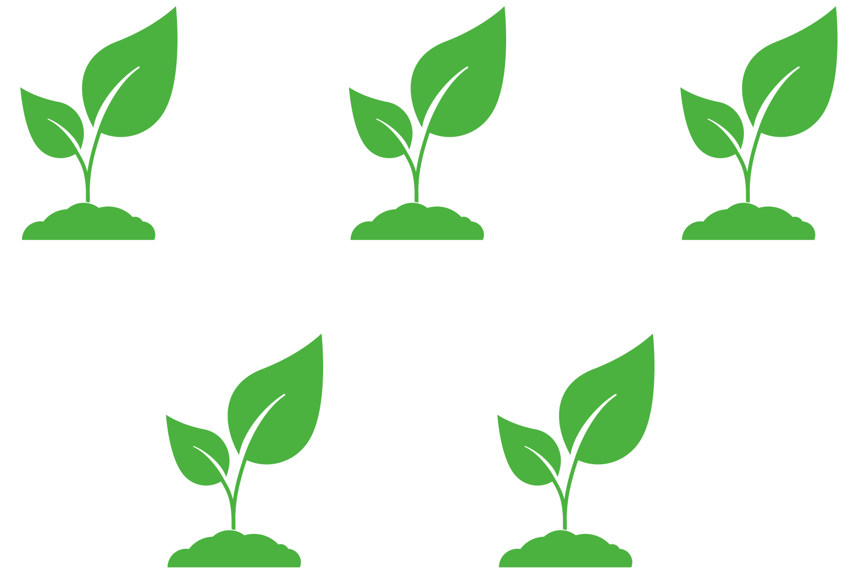Triangular planting pattern