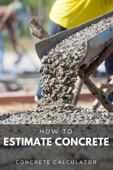 Share concrete calculator