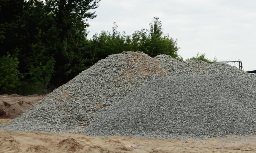 Gravel material at a landscape supplier