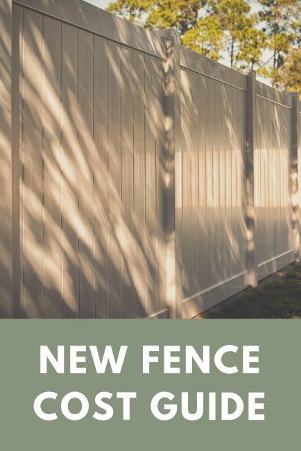 Share vinyl fence material calculator and price estimator
