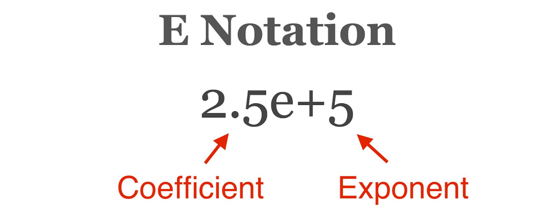 scientific E notation formula
