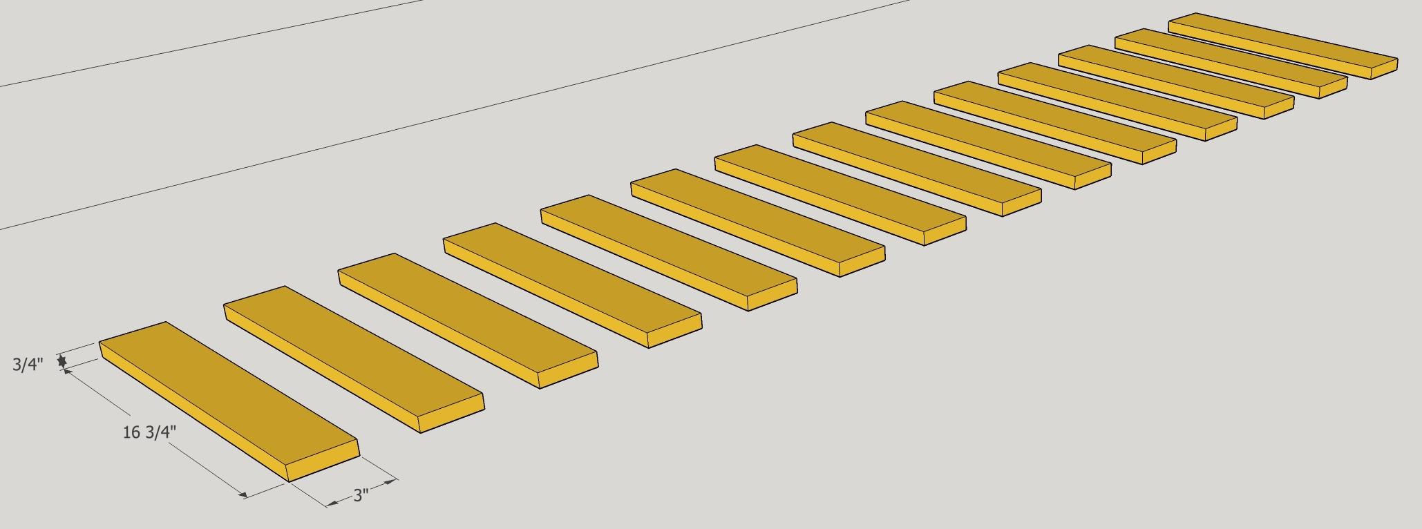 slats dimensions
