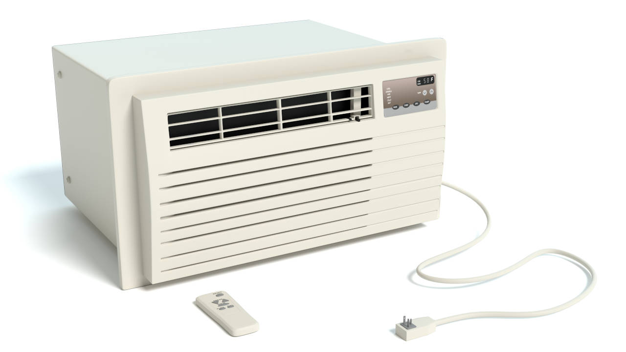 Choosing the size of a window air conditioner requires considering the room square footage, ceiling heights, use of the room, number of occupants, and other factors.