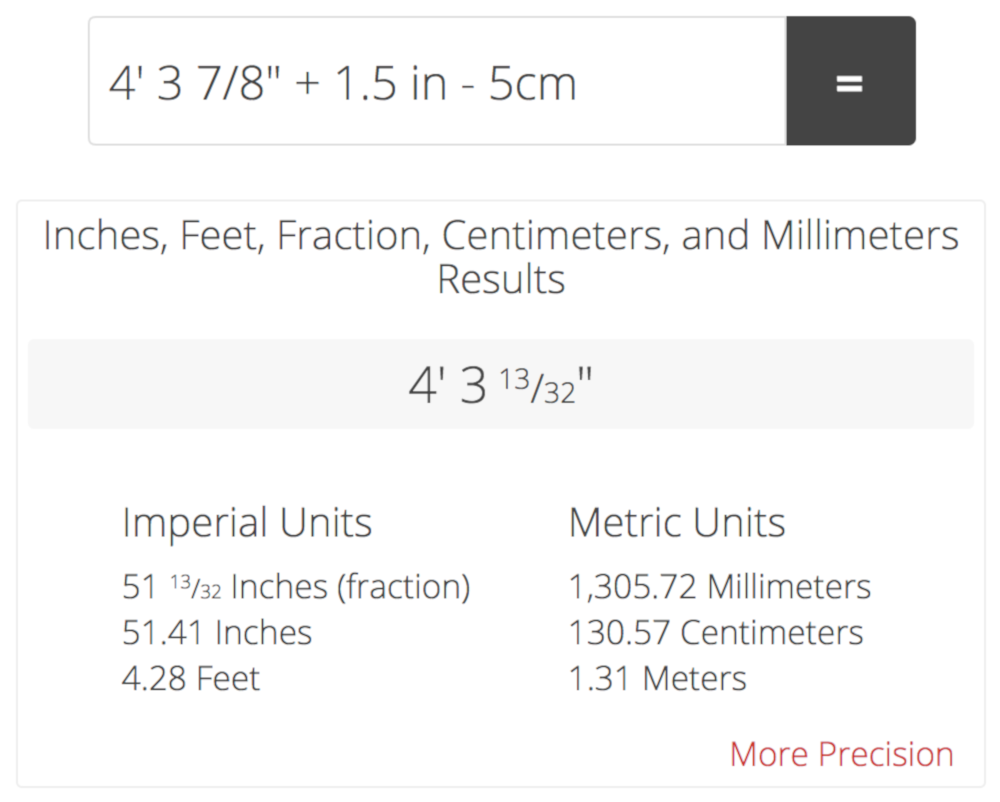 Feet and Inches Calculator Add or Subtract Feet, Inches