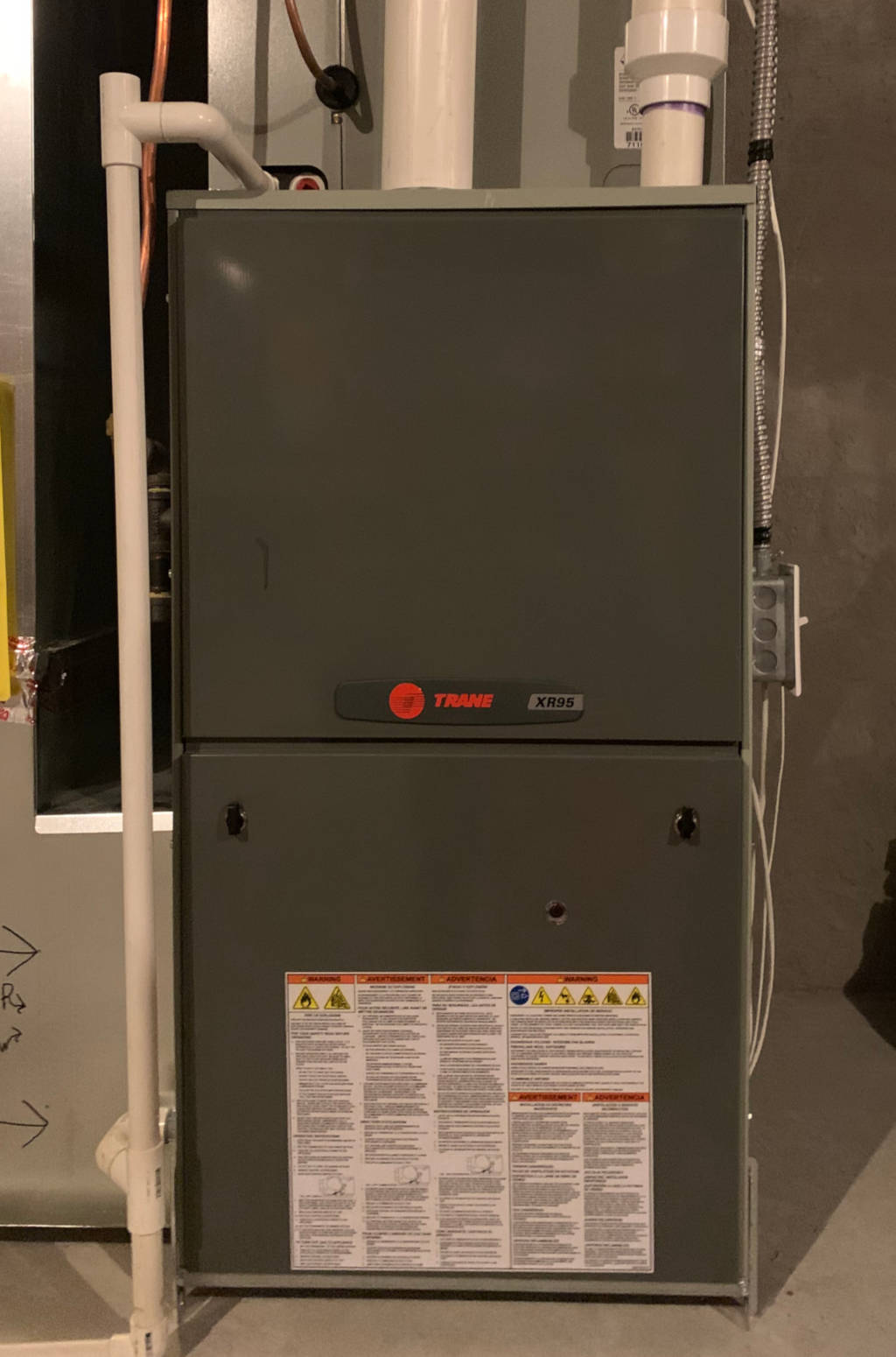 Furnace in a residential home
