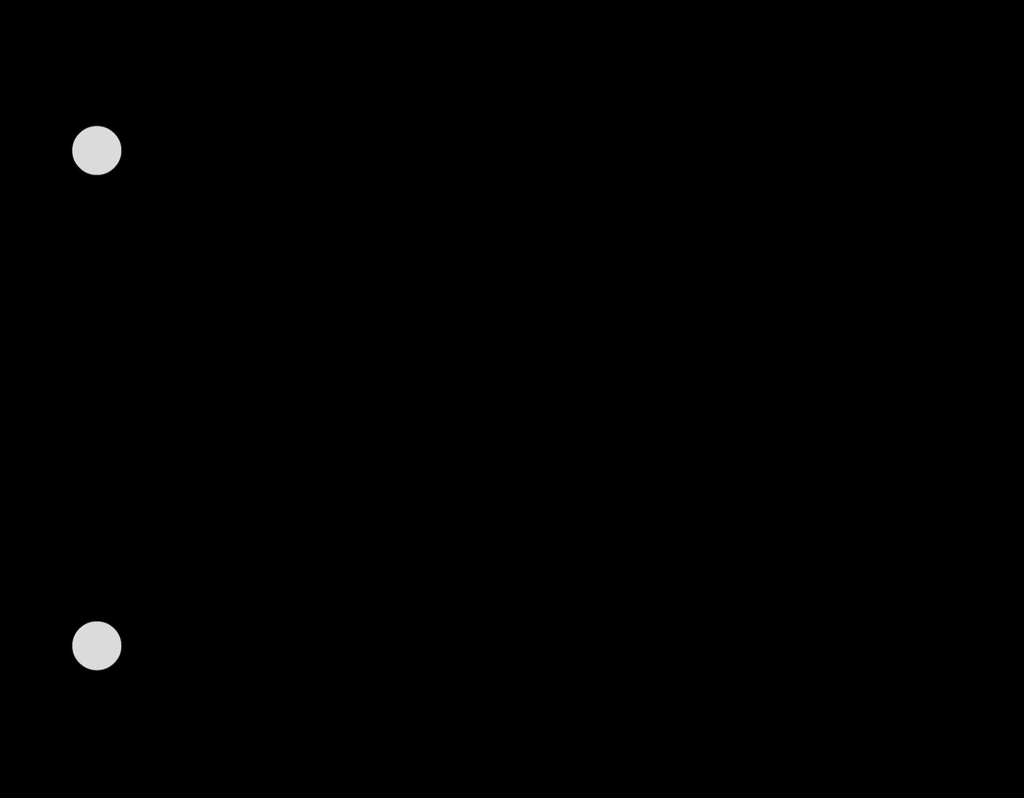 Electrical circuit diagram showing resistors connected in series.