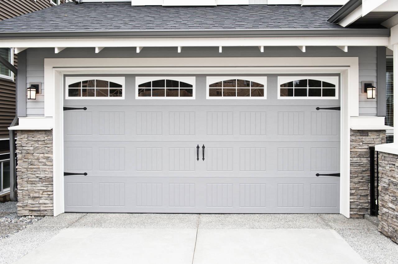 newly installed garage door