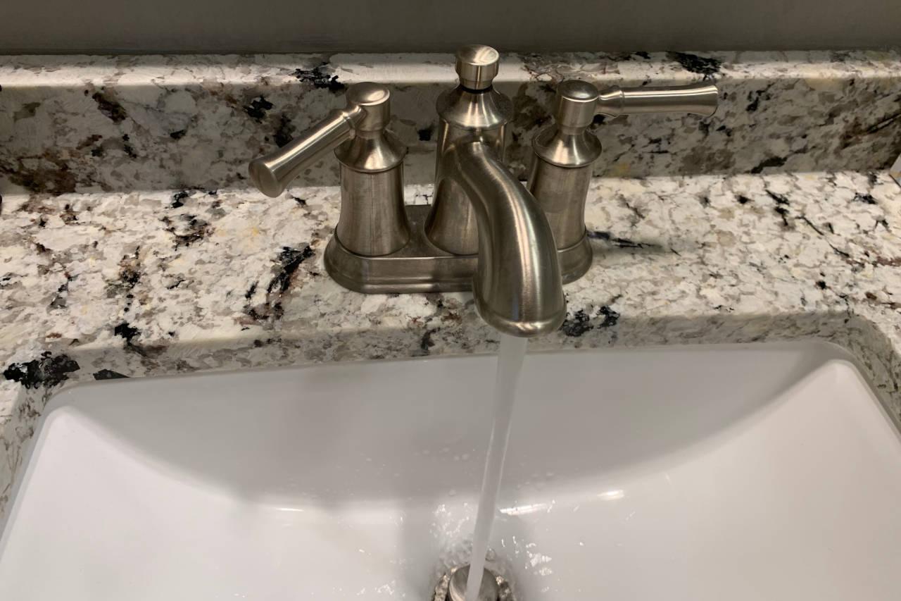 robinet à l'eau courante