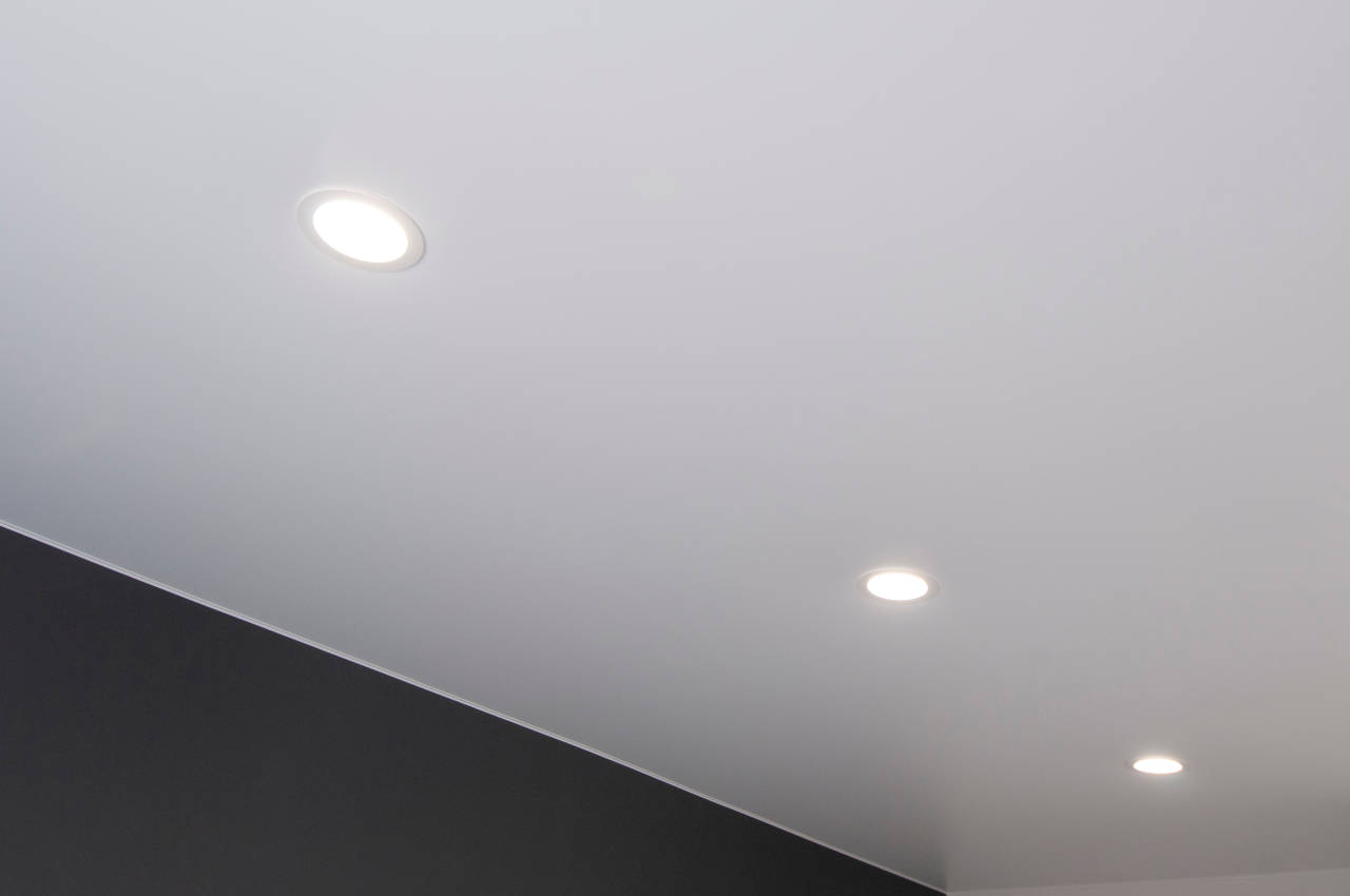 Three recessed light fixtures