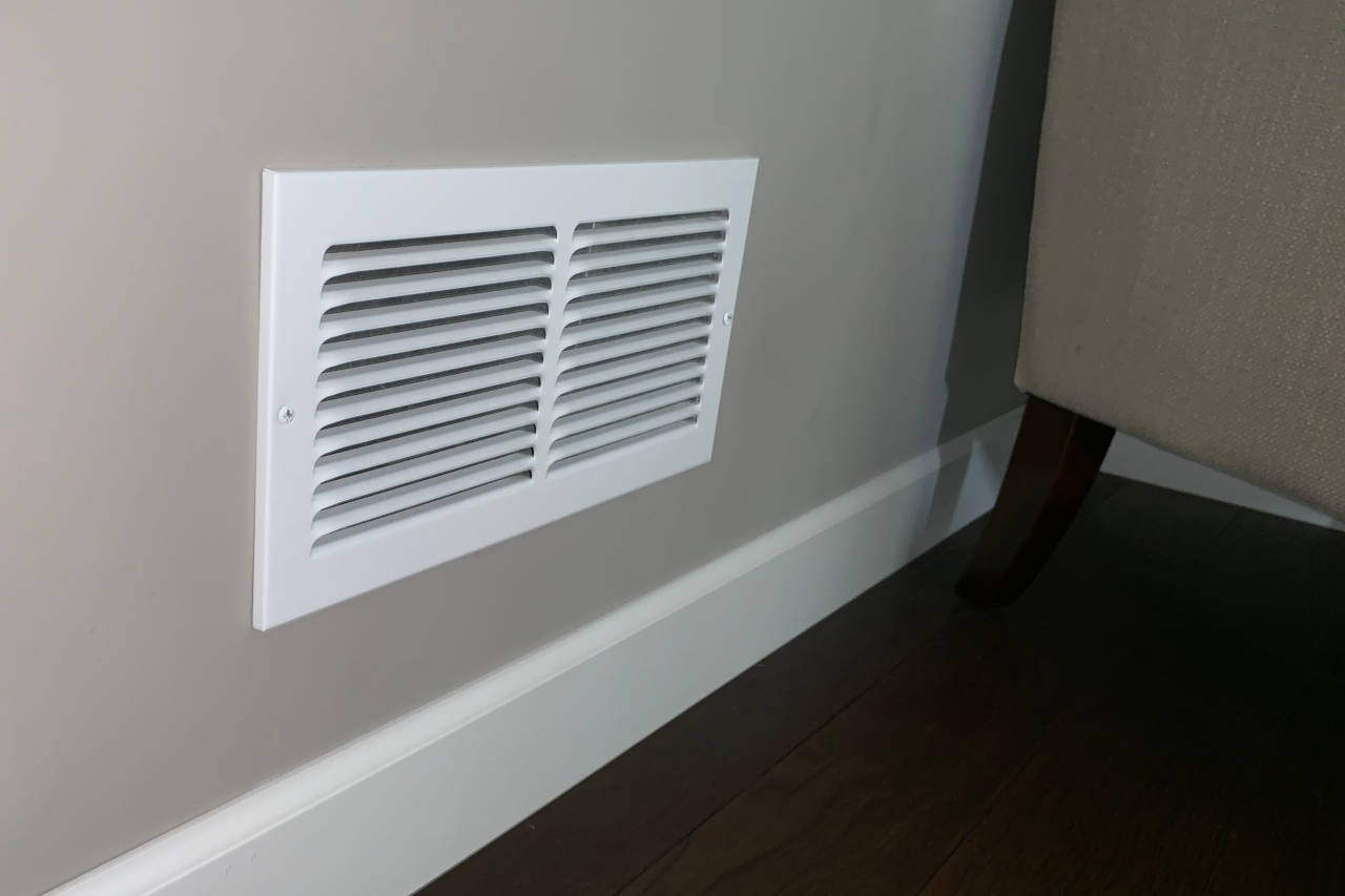 air vent on a wall