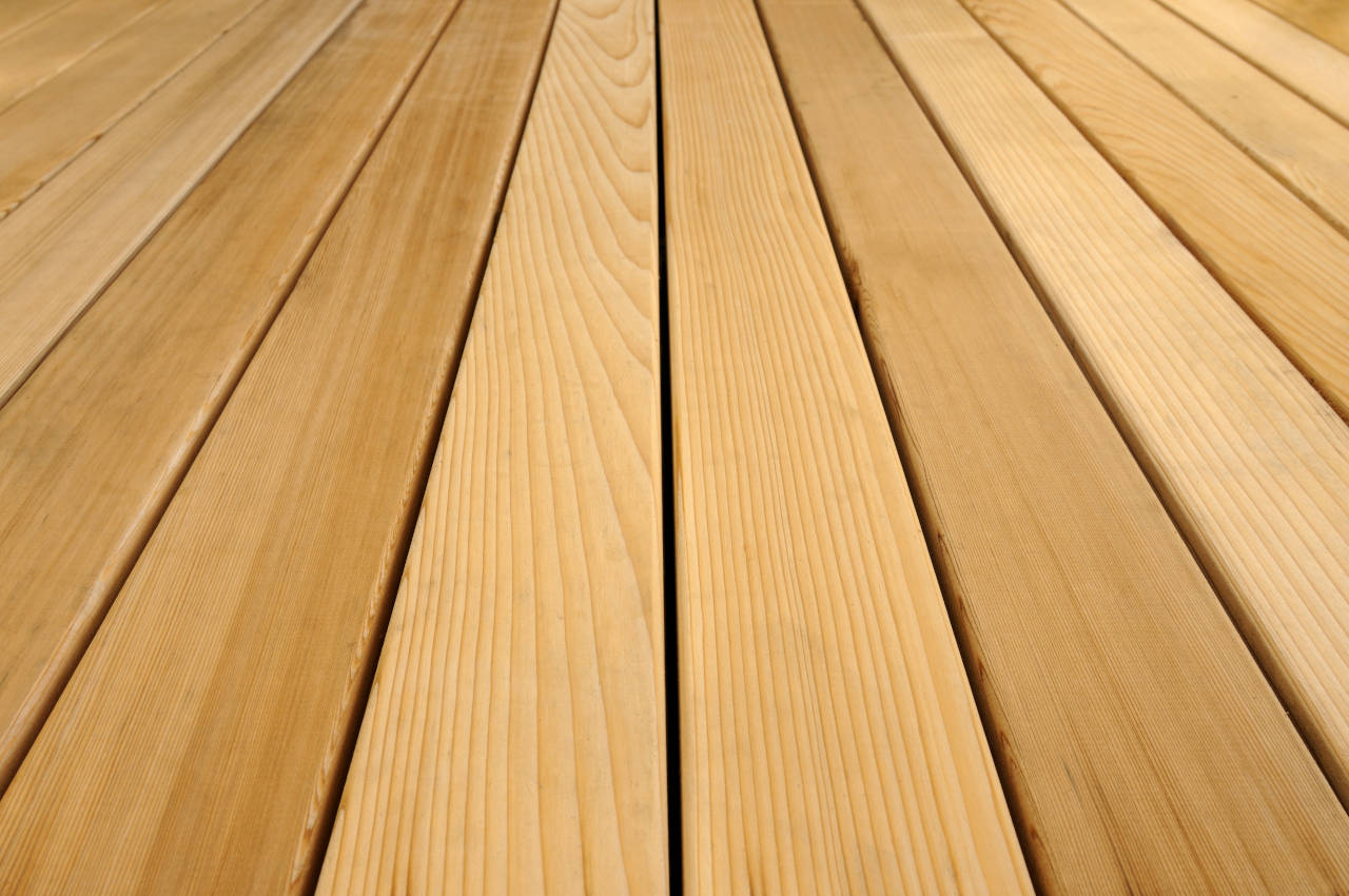 Western red cedar deck flooring