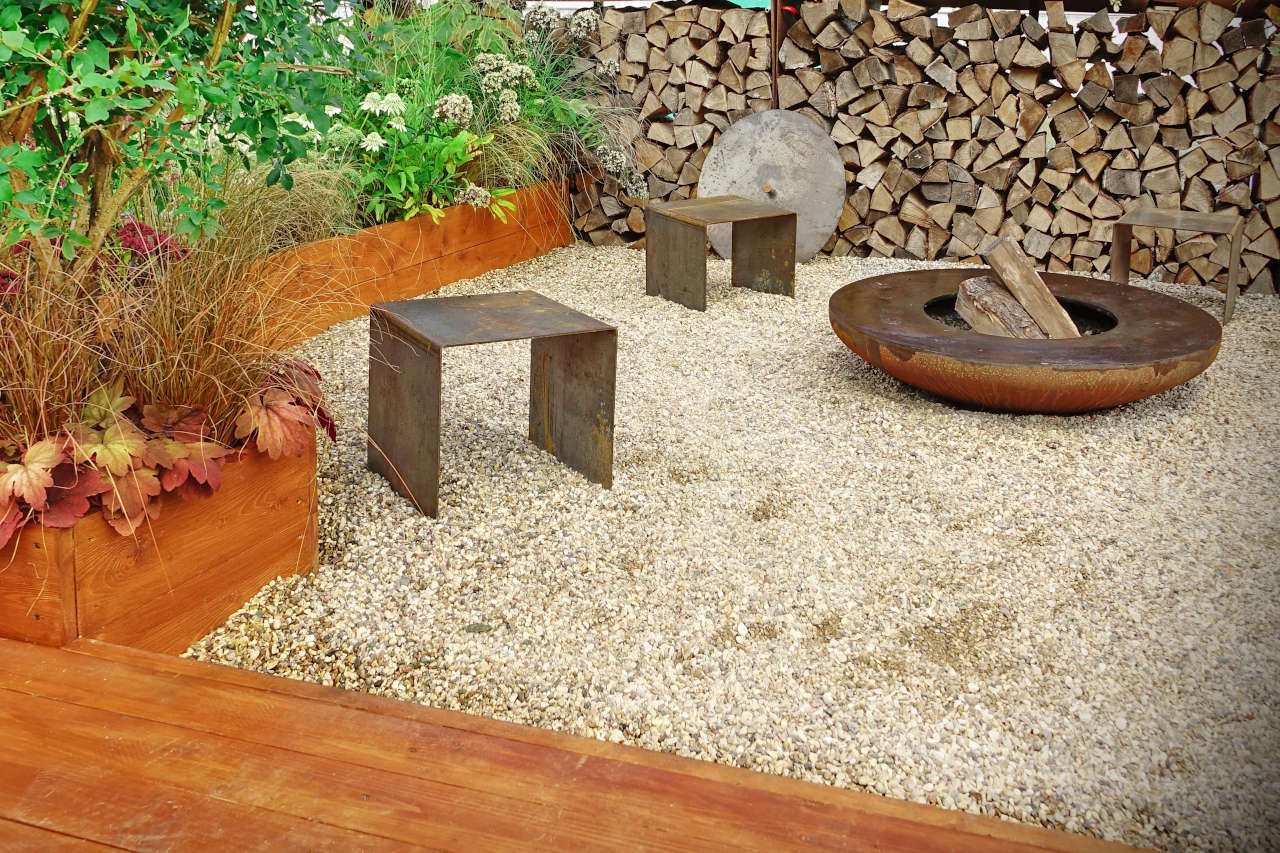 Gravel is the most cost effective patio material, but also the least durable and least suitable for placing furniture on