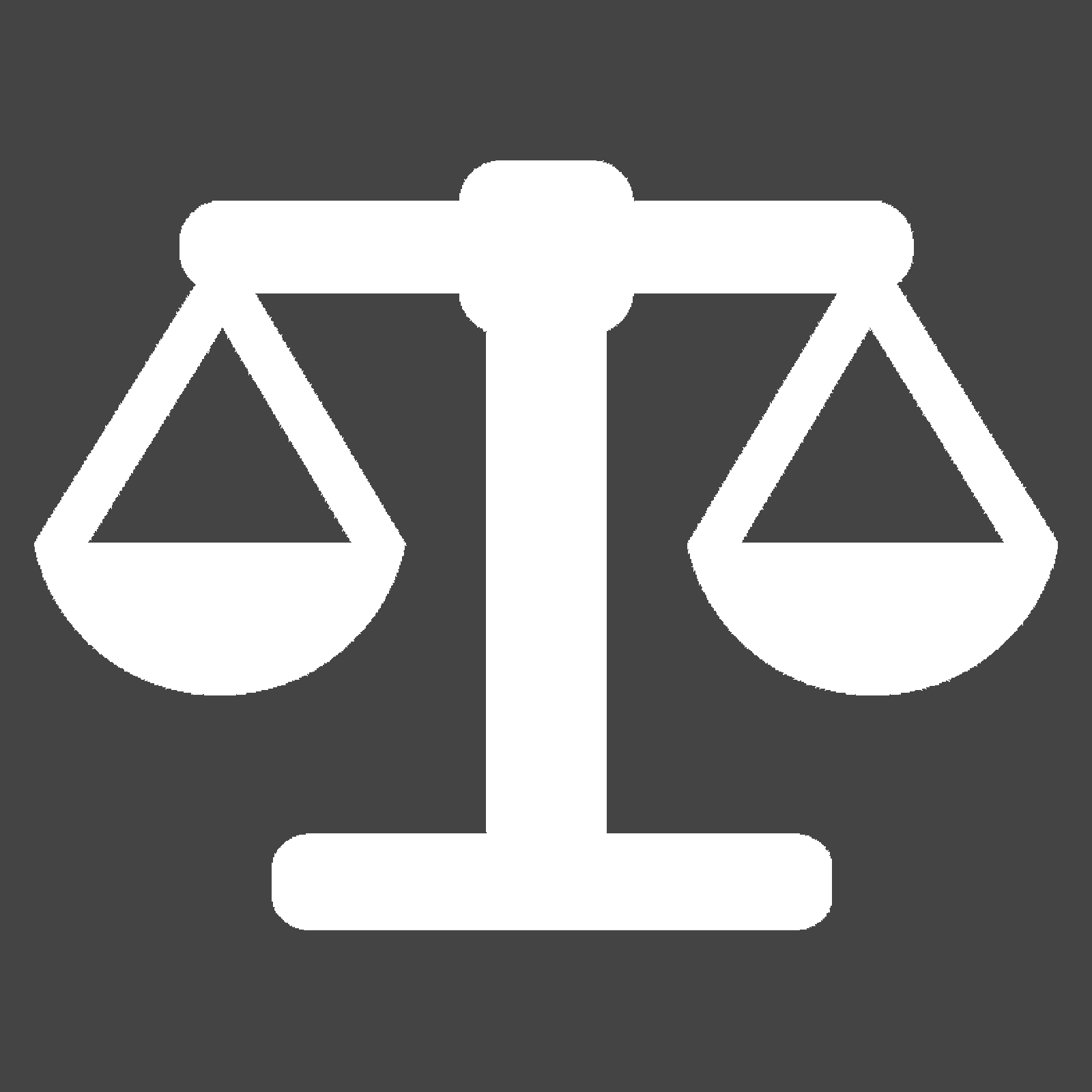 Icon showing a scale to convey weight