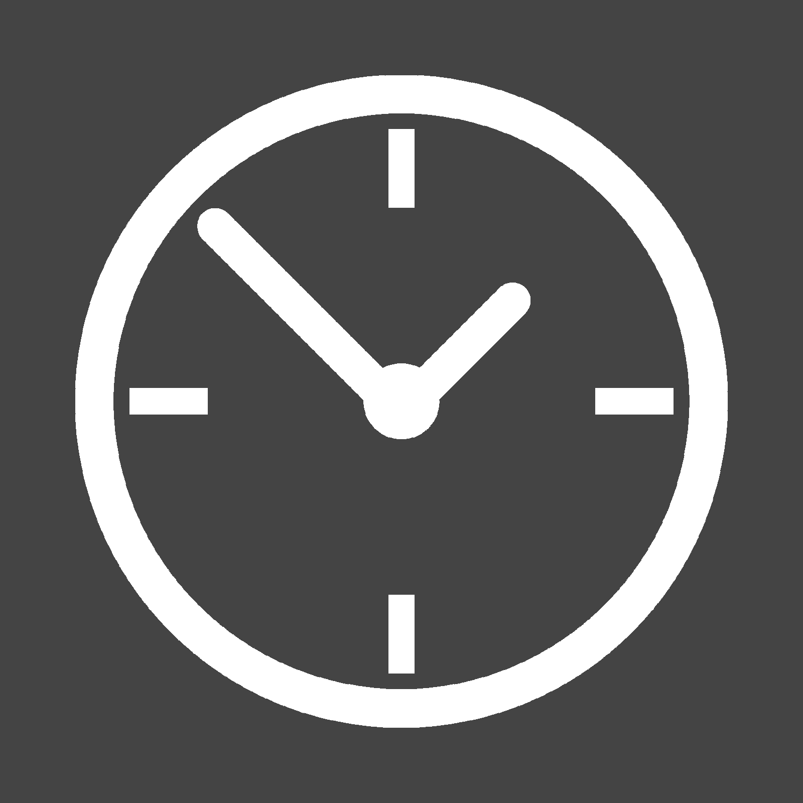 Icon showing a clock to convey time