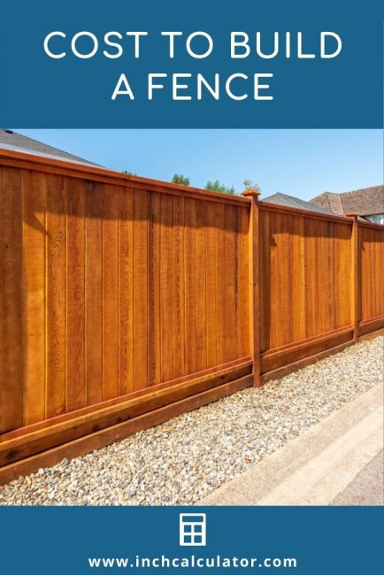 Cost Install Fence Average Prices Inch Calculator