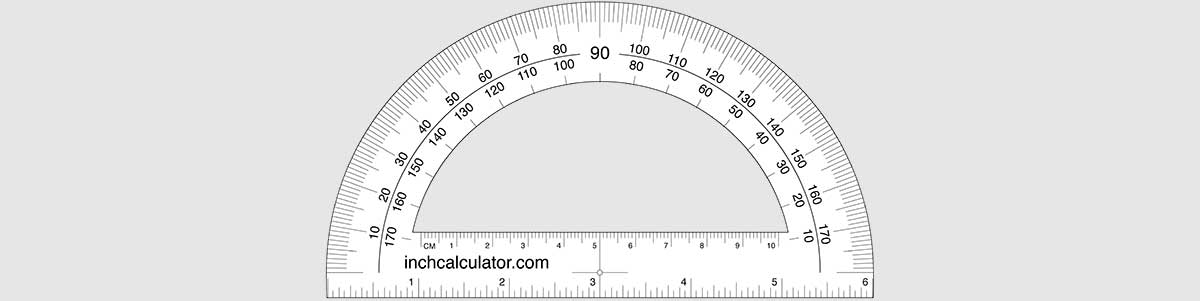 Protractors are often used to measure angle