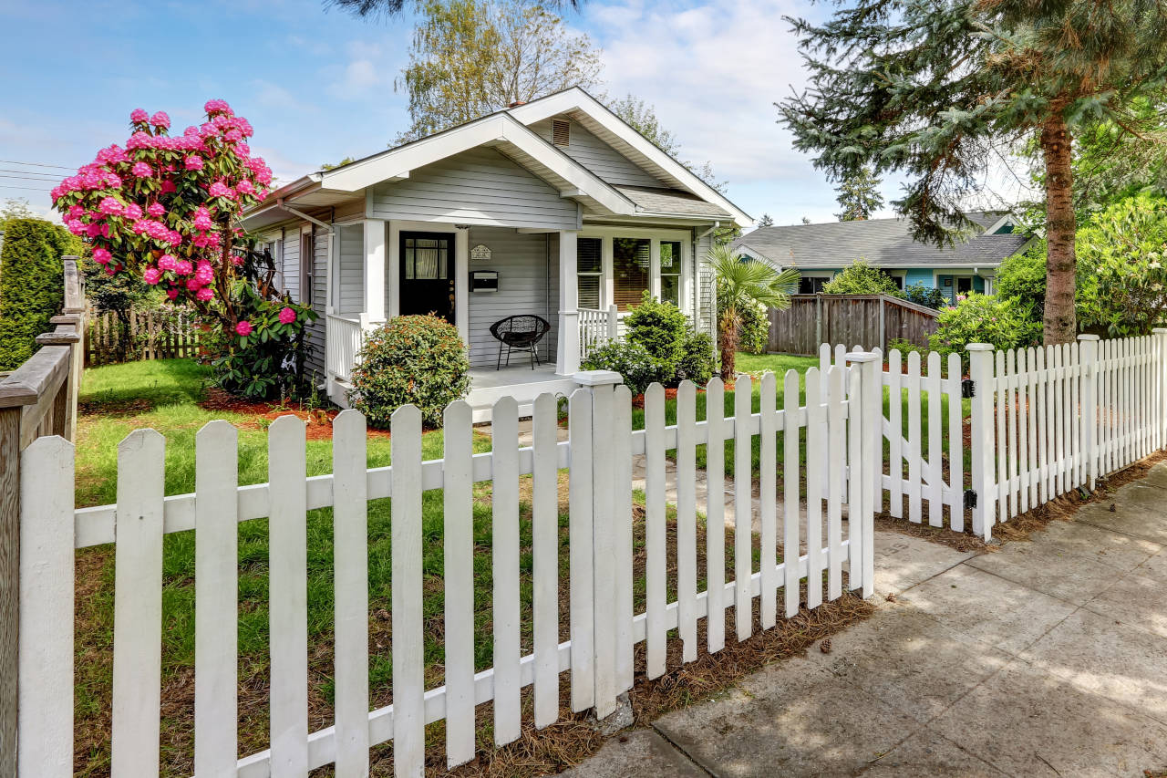 Wood picket fences are affordable and beautiful