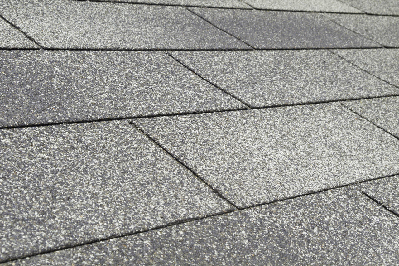 Roof installed with asphalt 3-tab shingles, which are the most common material