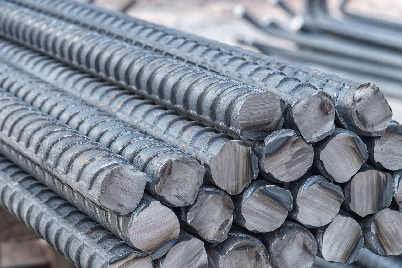 Stacks of rebar with a considerable amount of weight