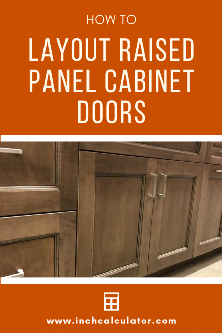 Calculate the size of a cabinet door based on the opening and generate a cut list of parts, including rail, stile, and panel dimensions.