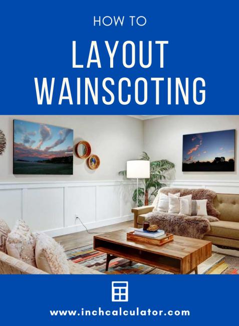 Share wainscoting layout calculator