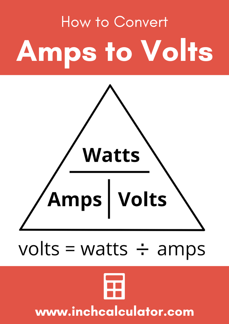 Share amps to volts electrical conversion calculator