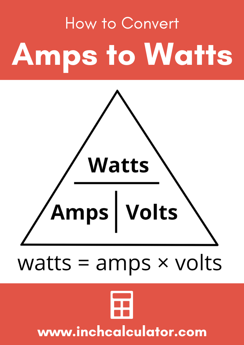 Share amps to watts electrical conversion calculator