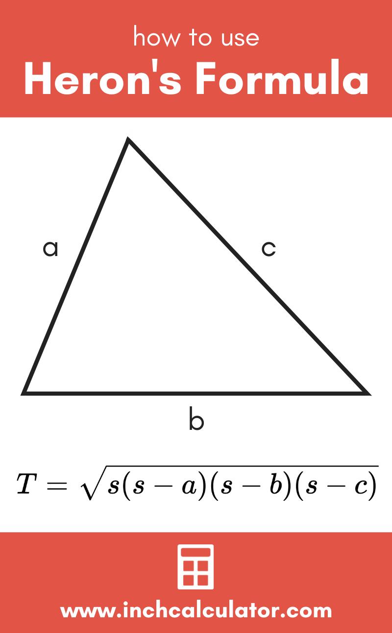 Share heron's formula calculator