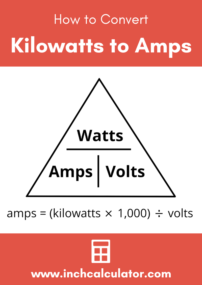 Share kilowatts (kw) to amps electrical conversion calculator