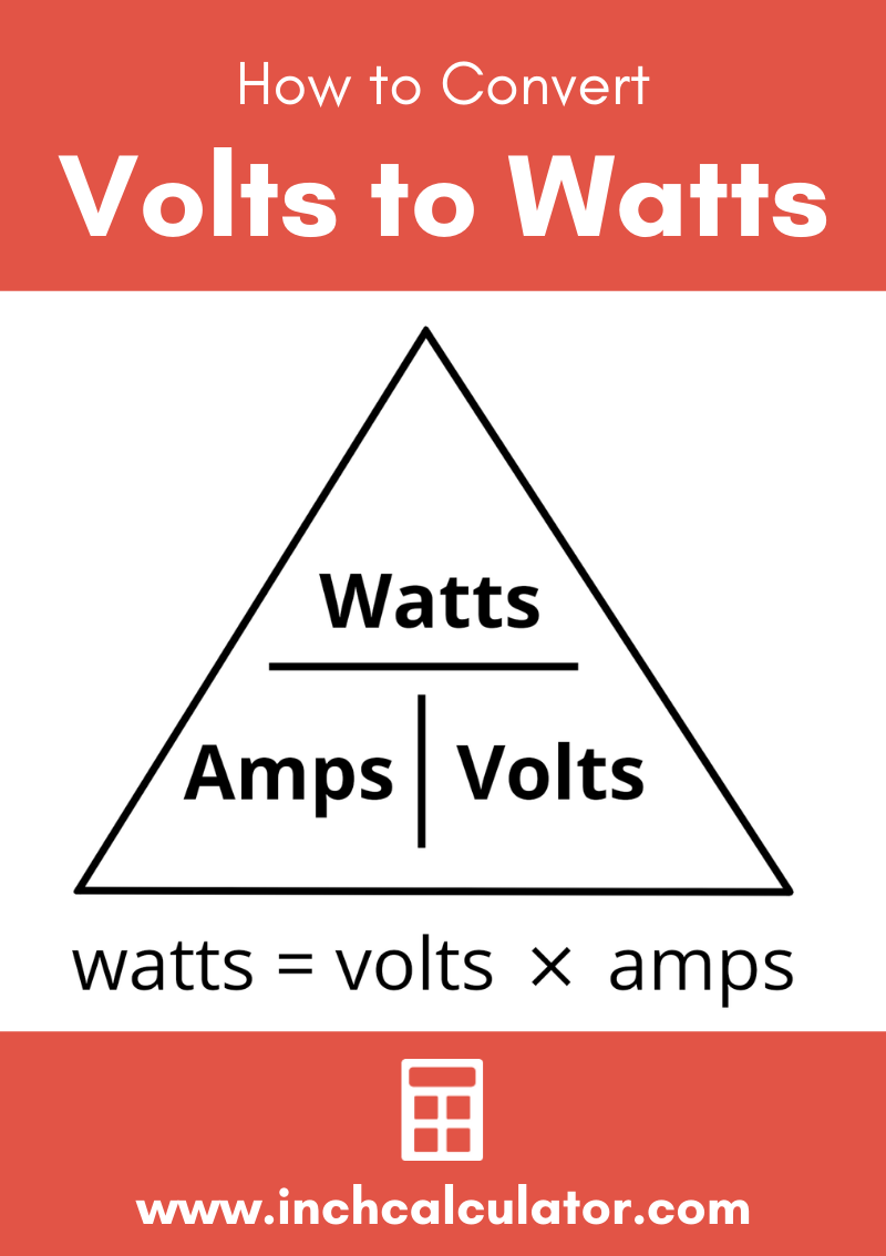 Share volts to watts electrical conversion calculator