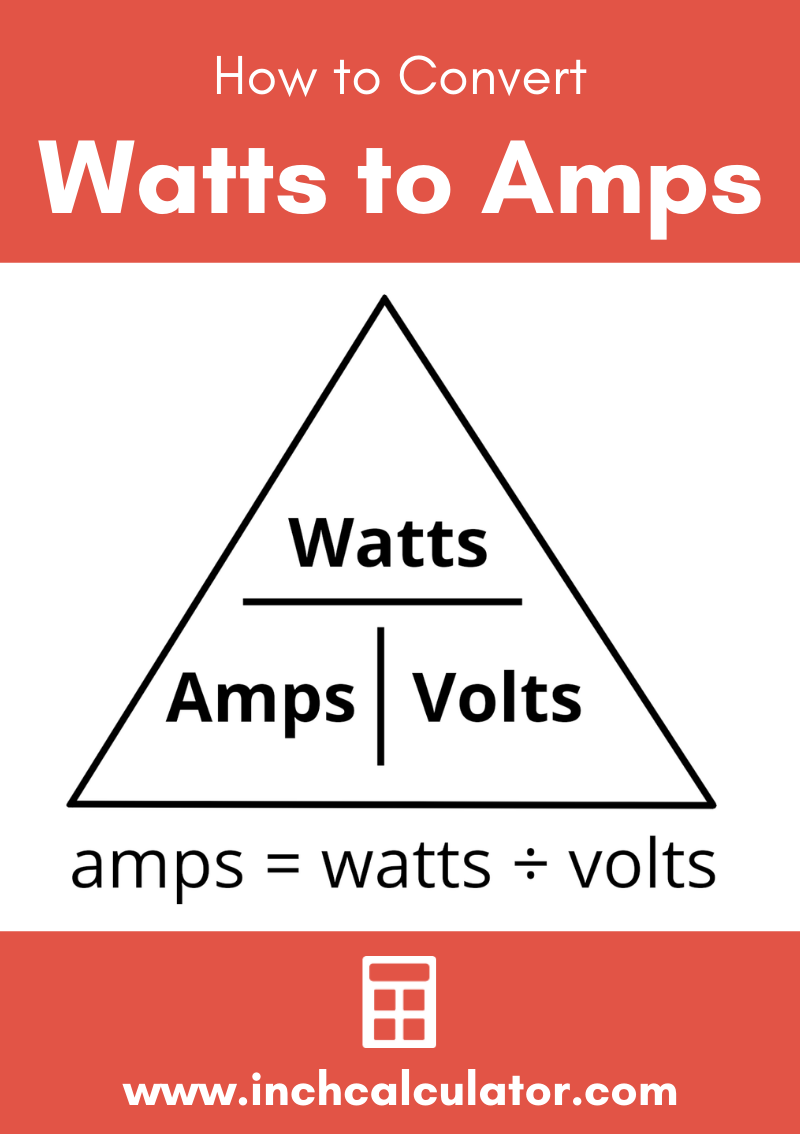 Share watts to amps electrical conversion calculator