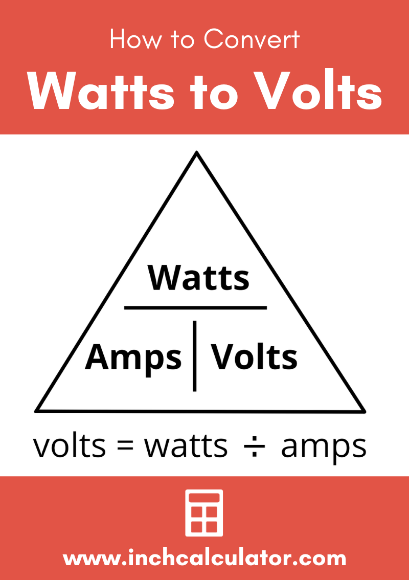 Share watts to volts electrical conversion calculator