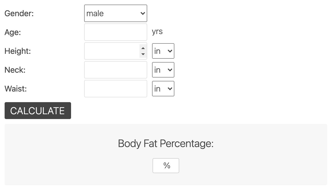 Navy Body Fat Calculator